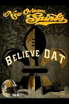 I think it's impossible to live in New Orleans and not become a Saints Fan.it happened to me! Football Tailgate, Best Football Team, Football Wall, Football Season, Football Fever, New Orleans Saints Football, Go Big Blue, Who Dat, New Saints