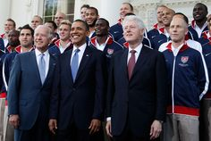 Bill Clinton and Barack Obama Photo - Obama, Biden, And Bill Clinton Pose For Photo With US National Soccer Team