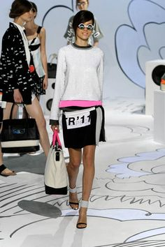 DVF - resort 2012 - a little color blocking, a little typography, big bag, sporty classic vibe - http://www.dvf.com/runway/resort-2011/collections-resort-2011-2012,default,sc.html