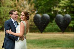 #suzannamarchphotography #firstlook #JimDine #Hearts #outdoor #wedding #decordova #decordovaspm  Krista & Andrew's DeCordova Sculpture Park Wedding - Suzanna March Photography