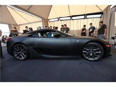 Check out this Lexus LFA in matte black, she's sexy!