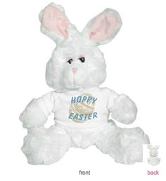Hoppy Easter Customizable Bunny Plush Stuffed by AllOverTheRoad, $25.00
