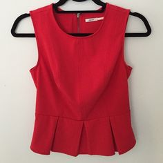 Red peplum top Red peplum top, urban outfitters, worn once, size small Urban Outfitters Tops Blouses