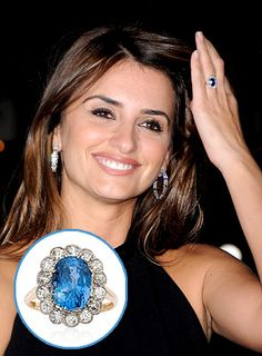 Javier Bardem proposed to Penelope Cruz with a vintage 3-carat sapphire ring worth roughly $30,000, sources tell Us.