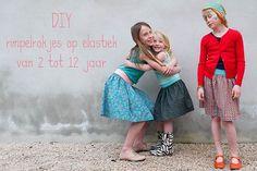 mina dotter: DIY. rimpelrokjes op elastiek van 2 tot 12 jaar.