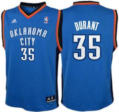 Kevin Durant Oklahoma Thunders Away Light Blue NBA Kids Revolution 30  Replica Jersey: This is a beautiful NBA Youth Revolution 30 - Replica  Jersey.