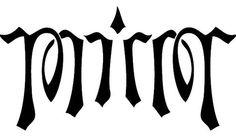 Mirror ambigram
