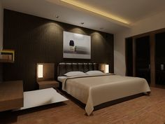 Modern Master Bedroom Design Ideas with Luxury Lamps White Bed Wall ...