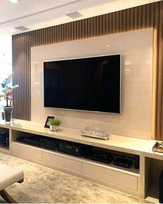 Modern Tv Unit Designs, Living Room Tv Unit Designs, Small Living Room Design, Home Living Room, Living Room Decor, Modern Tv Room, Modern Tv Wall Units, Tv Unit Interior Design, Interior Design Living Room