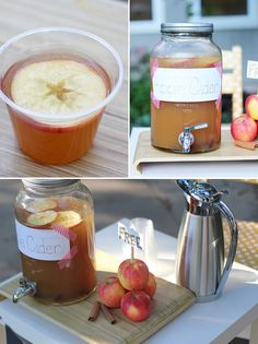 An Autumn Apple Cider Stand via @Julee Dyer
