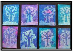 Les arbres d'hiver (à partir de La Moufle)