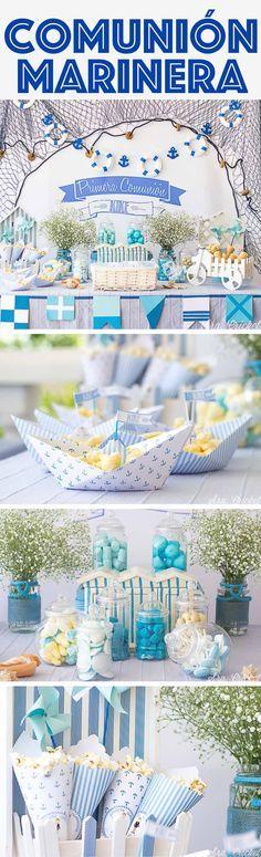 Comunión marinera #firstcommuniondecoration #decoraciónprimeracomunión#fiestamarinera