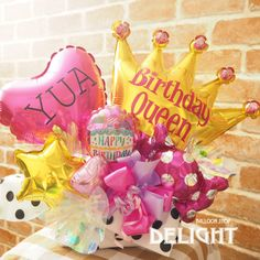 12th Birthday, It's Your Birthday, Birthday Parties, Balloon Shop, Balloon Gift, Balloon Bouquet, Boquet, Birthday Bouquet, How To Wrap Flowers