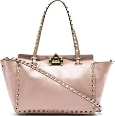 Valentino - Pink Leather Rockstud Mini Tote
