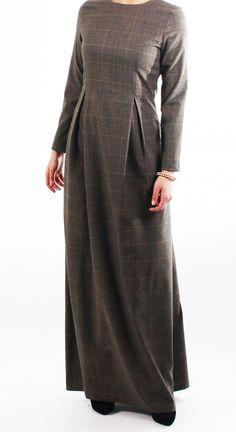 Plaid Tailored Abaya
