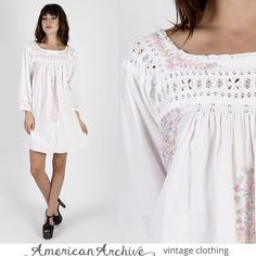 Vintage Oaxacan Dress Mexican Dress Mexican Wedding Dress Boho Dress Hippie Dress Hippy Dress Festival Dress Embroidered Dress Ethnic Dress by AmericanArchive on Etsy https://www.etsy.com/listing/251277291/vintage-oaxacan-dress-mexican-dress