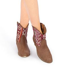 Pair these super cute Aztec cowboy booties with denim shorts or your favorite sundress for a stylish casual outfit!