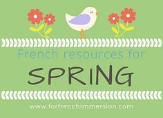 French spring resources: check out these spring-themed resources for your French classroom. For French immersion and Core French. French Songs, French Quotes, French Teacher, Teaching French, Teaching Spanish, Teaching Resources, French Classroom Decor, Classroom Icebreakers, Classroom Ideas