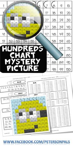 Mystery Picture Hundreds Chart Place Value Tens and Ones Color by Number Fun Math, Math Games, Math Activities, Maths, 100 Chart, Hundreds Chart, 2nd Grade Math, Grade 2, Math Magic