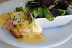 DONE: Eggs Benedict on a house-made doughnut // Uncle Bettys Diner