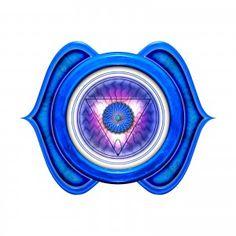 3rd Eye or Anja 6th Chakra On l'appelle encore le 3ème œil. C'est le chakra de la clairvoyance, de la claire-audience, des perceptions justes et aussi de la contemplation, de la conception et de la représentation.Il est stimulé par la couleur bleu indigo et la note La