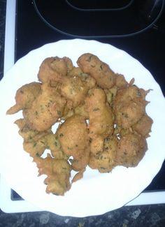 Tortillitas de bacalao esponjosas. para #Mycook http://www.mycook.es/cocina/receta/tortillitas-de-bacalao-esponjosas