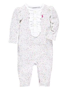Ralph Lauren Baby Girls Floral All-In-One Coverall | very.co.uk