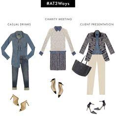 #AT3Ways: 3 Spring-ready ways to wear a chambray shirt