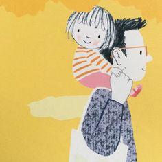 "Gefällt 3,786 Mal, 46 Kommentare - Jane Massey (@janemasseyillustration) auf Instagram: ""#daddy 💛"" Family Illustration, Children's Book Illustration, Cartoon Drawings, Cute Drawings, Illustration Mignonne, Art Fantaisiste, Art Mignon, Cute Cartoon Wallpapers, Whimsical Art"