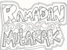 Gambar Mewarnai Ramadhan Coloring Pages, Crafts For Kids, Calligraphy, Math, Pictures, Eid, Kindergarten, Colour, Google