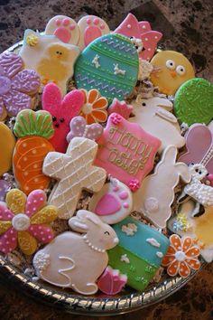 Easter decorated sugar cookies by Sweet Sugar Love