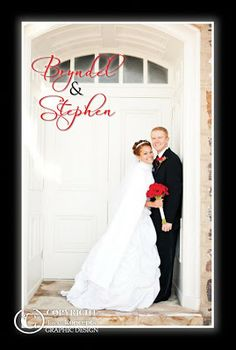 Kara's Koncepts Graphic Design | Custom Wedding Invitations | Thank You Postcards | Red & Black Wedding Theme