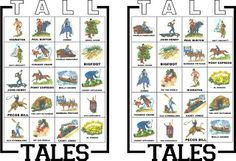 Pony Express District Cub Scouts: Game for   Bear Achievement 4: Tall Tales