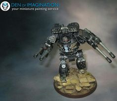 Iron-Hands Legion Mortis- Contemptor Dreadnought. W/ carapace/cyclone-ML & Arm/TL-autocannons.