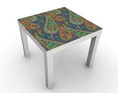 #Beistelltisch - Filigranes #Paisley Design - #Tisch Grün #orientalisch #Wohnen #Orient #1001 #Nacht