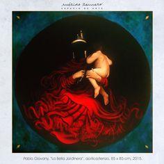 """""""La Bella Jardinera"""", acrílico sobre lienzo, 2015."""