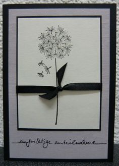 Sehr schöne Trauerkarte, Beileidskarte
