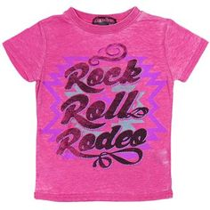 Rock & Roll Cowgirl Kid's Rock Roll Rodeo Short Sleeve Tee