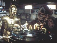 The kind of digital interaction games I'd like to see. Including lifesize C3PO and Chewy.