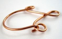 copper wire jewelry ideas | Hook Clasp on Charm Holder Pendant Tutorial by Rena Klingenberg