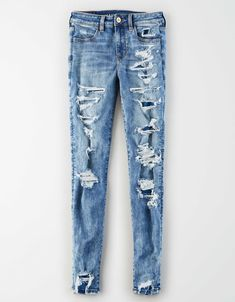 Girls Ripped Jeans, Ae Jeans, Curvy Jeans, Ripped Skinny Jeans, Casual Jeans, Jeans Pants, Jeans Sale, Boyfriend Jeans, Shorts