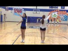 YouTube Cheerleading Videos, Cheerleading Cheers, Football Cheer, Cheer Coaches, Cheer Stunts, Football Stuff, Cheer Music, Youth Cheer, Cheer Camp