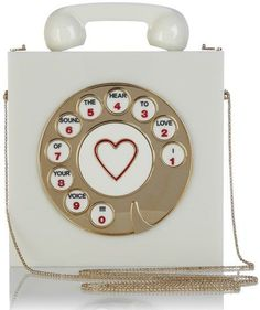 Charlotte Olympia : Chatterbox Clutch bag