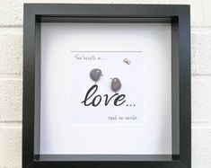 Pebble Art Picture Rock Climbing Gift Framed Personalised Birthday Gift For Him Home Decor Bride And Groom Gifts, Wedding Gifts For Bride, Wedding Anniversary Gifts, Pebble Pictures, Art Pictures, Photos, Engagement Presents, Wedding Engagement, Handmade Birthday Gifts