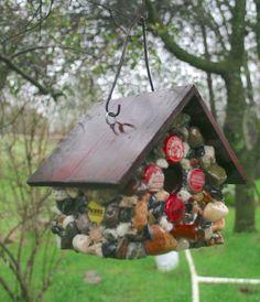 We'll never toss bottle caps after seeing this stunning garden idea