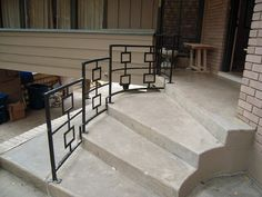 Exterior Railing by CollectoratorOne, via Flickr.  Sarah hates the square in a square design.  i don't know where i stand