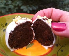 Nutella-Kahlua Brownie Truffles. Easy because they start with a box mix!