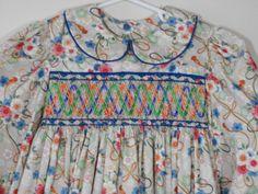 Hand Smocked Girls Dress