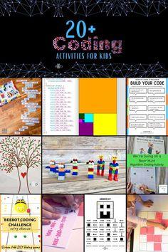 20  Coding Activities for Kids! #teachkidstocode #STEMed #STEM #STEAMkids #learntocode #kidcoder