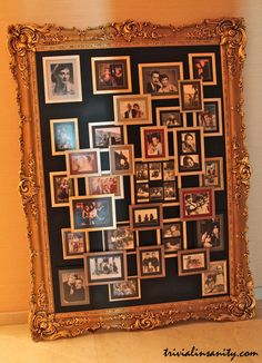 Love this to display family pictures